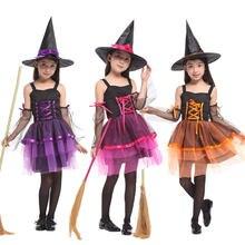 Umorden dzieci dziecko dziewczyny czarodziejka strój czarownicy Halloween kostiumy Purim Party Mardi Gras przebranie G-0195