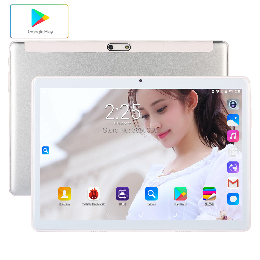 New 10 Inch Android 9.0 Tablet 1280*800 IPS 3G Phone Call  WiFi GPS 3G Tablet  96GB ROM Media Pad 10