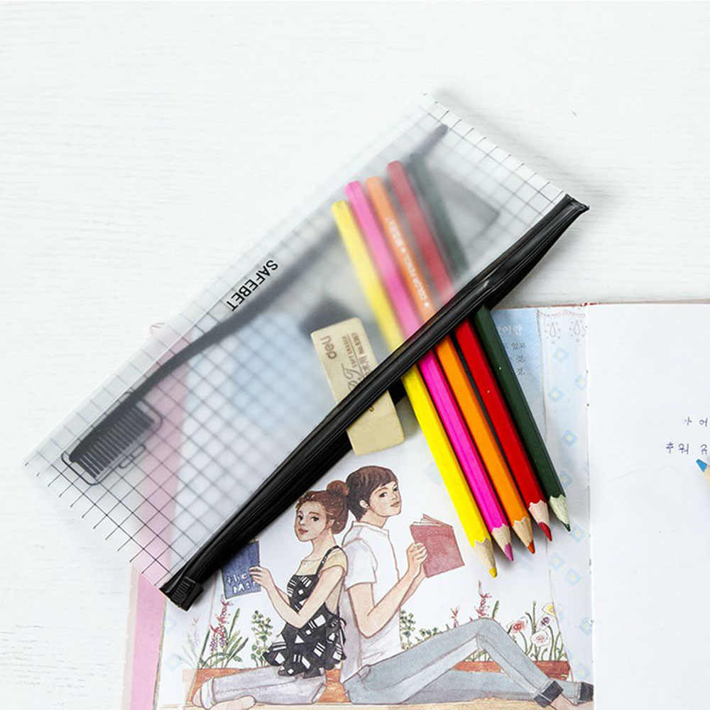 1 Cái Nhựa PVC Trong Suốt Bàn Chải Đánh Răng Đựng Mỹ Phẩm Nữ Trang Điểm Du Lịch Túi Dụng Túi Bảo Quản Bút Vệ Sinh Rửa Bộ Ốp Lưng