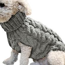 Милые товары для домашних животных вязаный джемпер свитер зимний Теплый Щенок Одежда для домашних животных свитер джемпер для собаки собачий пуловер Одежда для собак