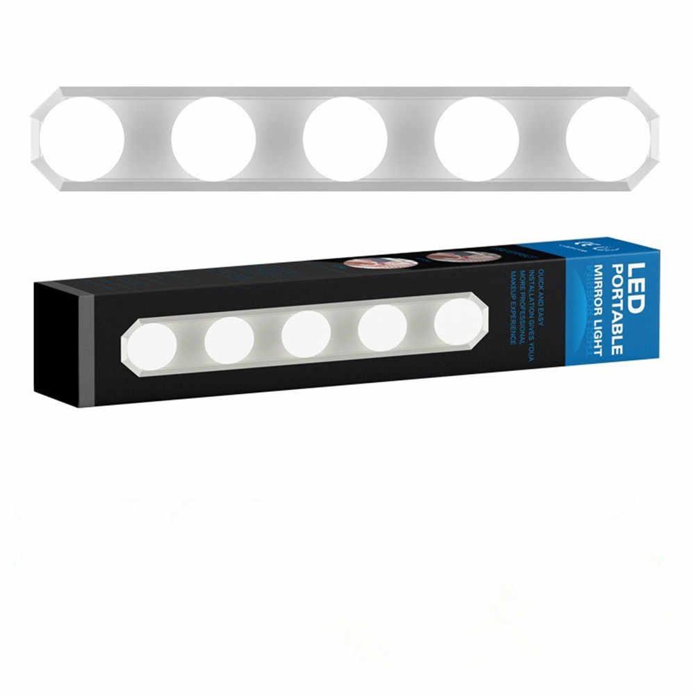 Голливудский светодиодный зеркальный светильник, 5 ламп, присоска, установка, комод, настольная лампа, ванная комната, настенная лампа, питание от USB, затемнение