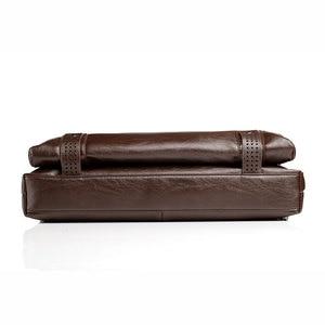 Image 3 - Mens Leather Briefcase PU Material 15inch Mens Shoulder Bag For Men Crossbody Bags 2019 Fashion Bussiness Briefcase handbag