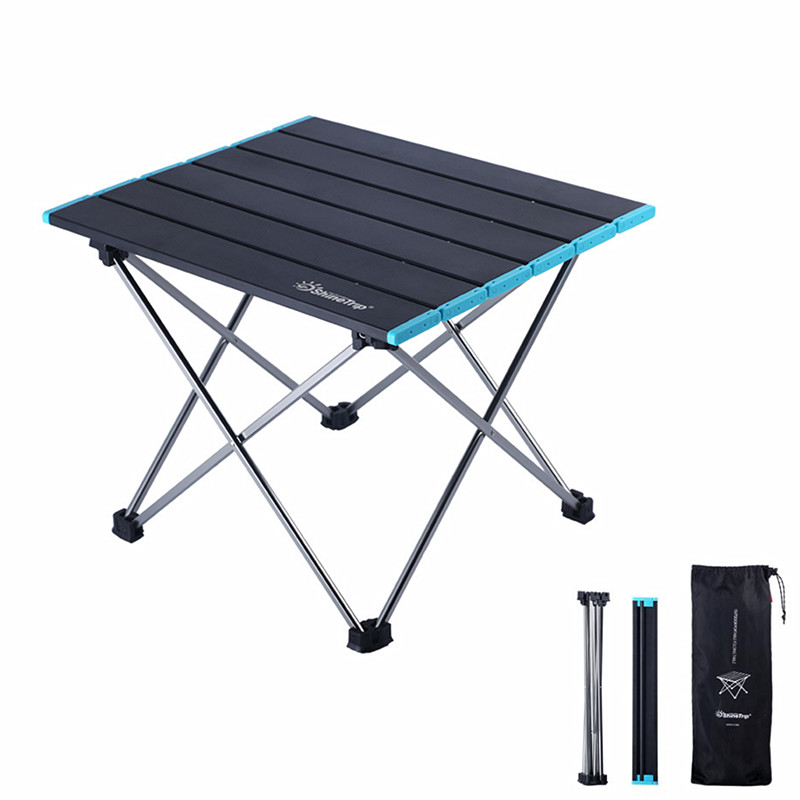 Mini Aluminum Alloy Foldable Table Barbecue Camping Picnic Outdoor Portable Collapsible Desk