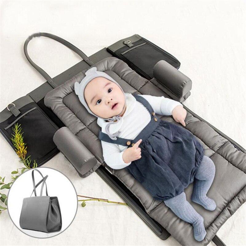 Foldable Waterproof Changing Pad Diaper Newborns Portable Baby Diaper Cover Mat Clean Hand Folding Diaper Bag