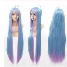 Free Shipping  80cm Long Wigs No Game No Life Shiro Long Cos