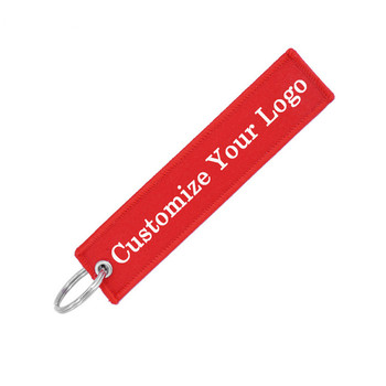 Travel Accessories Customize Embroidery Luggage Tag label Fashion Travel bag tag for Flight Crew Aviation Gift luggage bagage tag label remove before flight key chain follow me travel accessories embroidery tag flight crew aviation gift