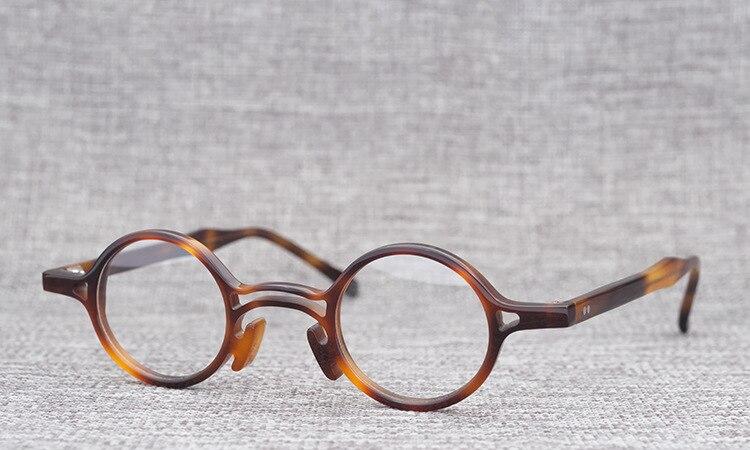 Belight Optiacl Brand Design Small acetate Round Glasses Frame Men Women Prescription Eyeglasses Optical Frame Eyewear RE PINNER