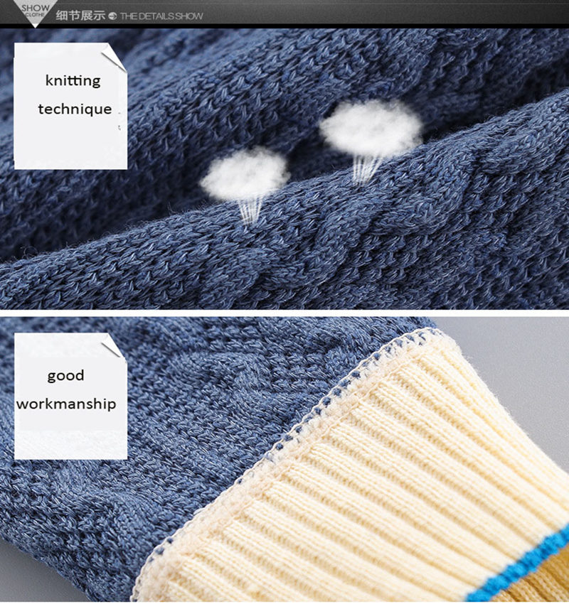 Baby Clothes Knit Sweater Autumn Winter Cable School Uniform Baby Sets  Casual Classic Single Breasted Boy Girl Outfits 4