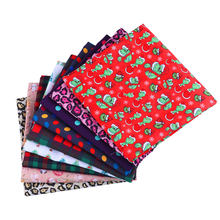50*140 см Рождественский узор полиэстер хлопчатобумажная ткань Лоскутная Ткань с принтом для детей домашний текстиль для шитья Кукольное пла...