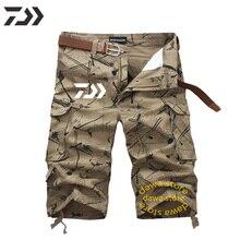 Daiwa летние крутые штаны для рыбалки мужские камуфляжные быстросохнущие на молнии Одежда для рыбы дышащая одежда для альпинизма из полиэстера