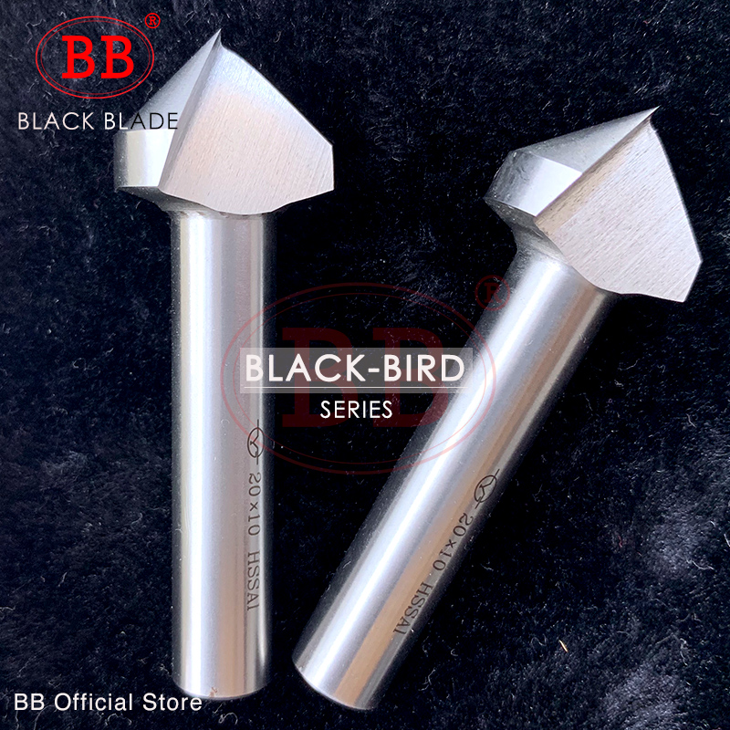 BB 90 Degree Countersink Chamfering Milling Tool V Core Drill HSS 1 3 Flute Metal Chamfer CutterOrifice Rose Reamer Cove
