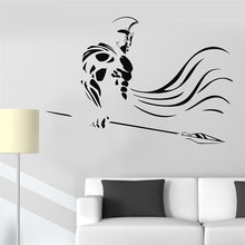 Warrior Spear War Ancient Vinyl Wall Decal Wall Stickers Home Decor Art Mural Removable Cartoon Wall Sticker Decoration LW482 car sticker japanese cartoon fans seed gundam raiser vinyl wall stickers decal decor home decoration