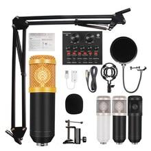 Bm 800 condensador microfone microfone para pc studio microfone para kit karaoke computador bm-800 v8 placa de som