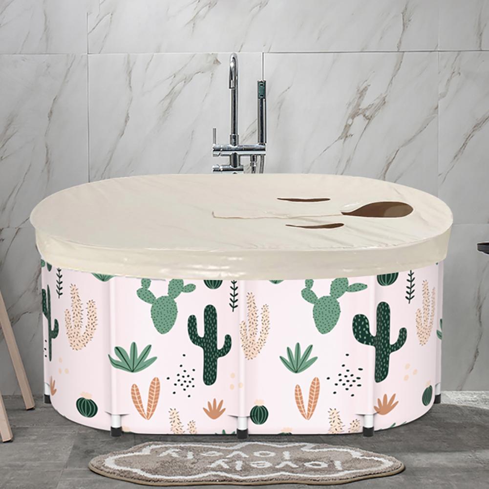 2021 Bath Sauna Adult Folding Bathtub Portable Thickening Cylindrical Tub V PVC Bath Bucket Adult Children Swimming Pool