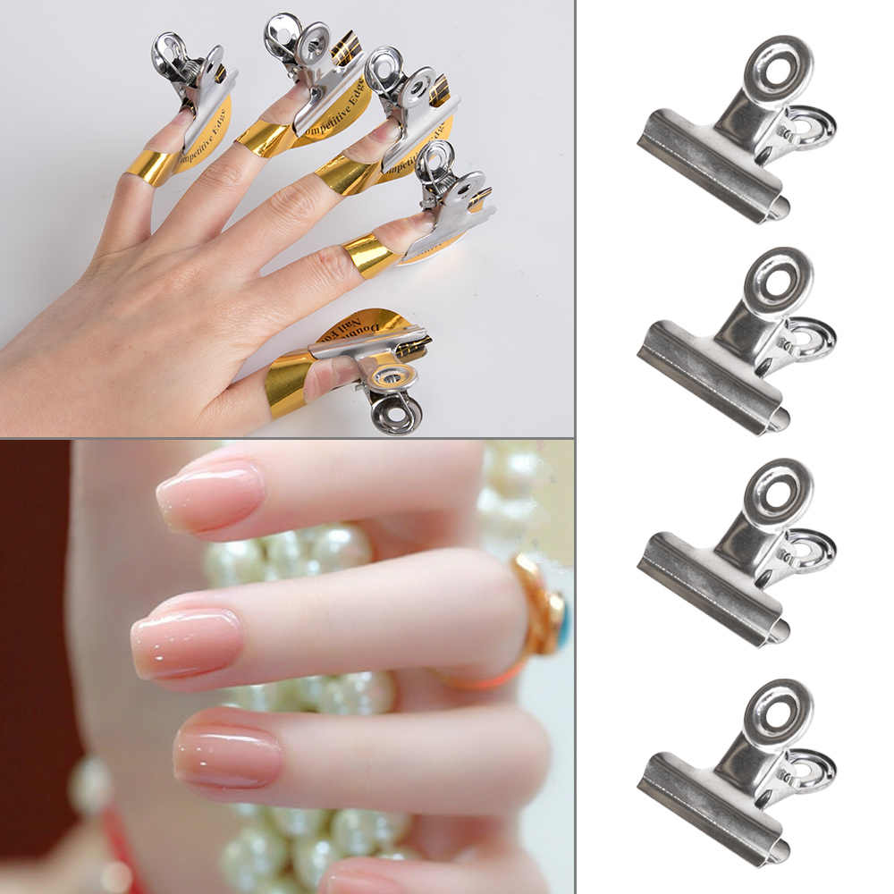 1/5/10 Pcs Russische C Curve Nail Knijpen Clips Franse Nail Form Tips Rvs Acryl Nagels pinchers Multi Functie Tool