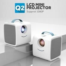 [Pink]Kids Video Projector Mini HD Projector 3D LED TV HD LC