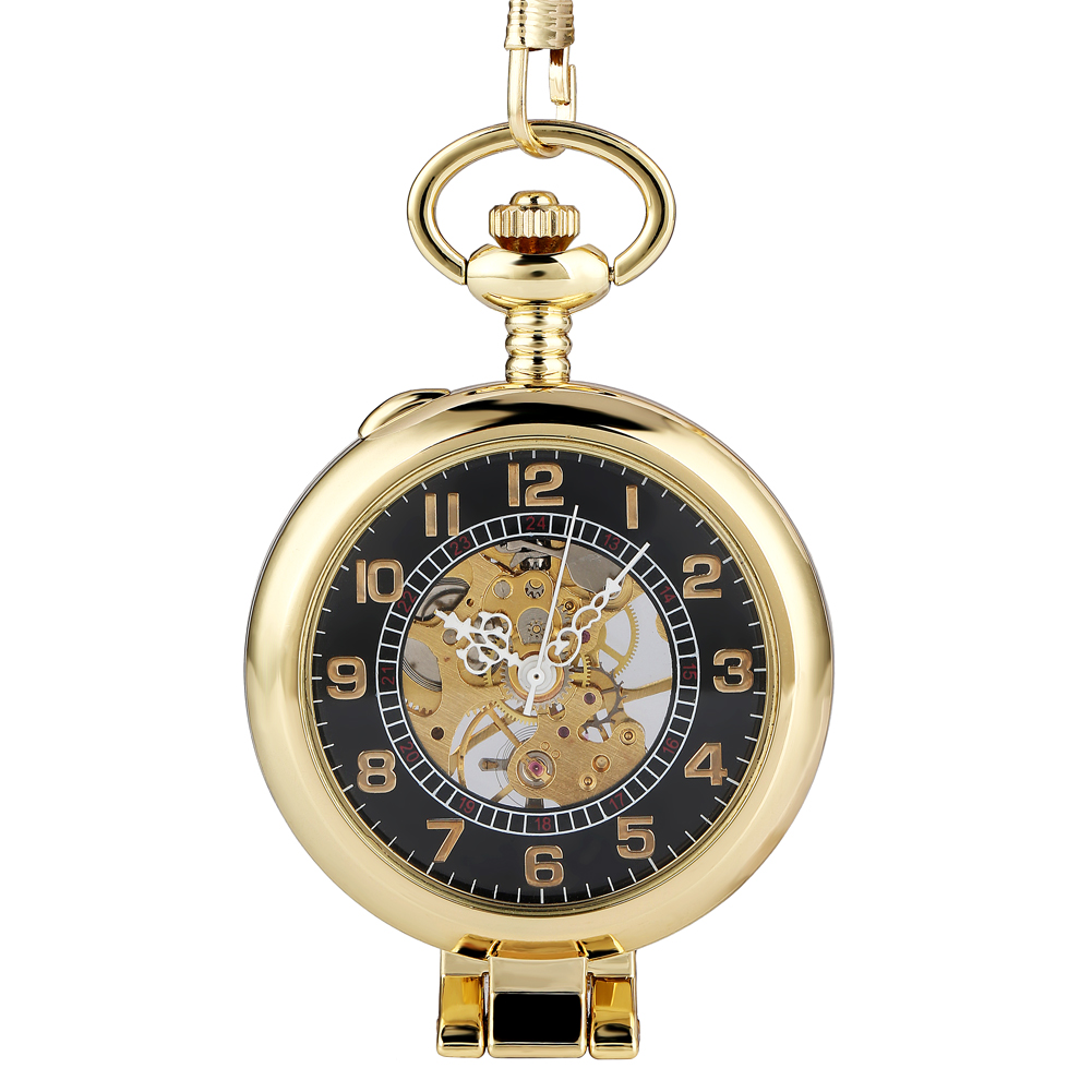 Practical Hand-winding Mechanical Pocket Watch For Women Men Delicate Hollowed-out Dial Pendant Necklace Clock Montre De Poche