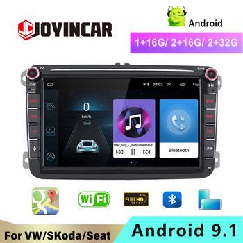 JOYINCAR 2 Din Car multimedia GPS Navigation Stereo Autoradio Player For VW touran caddy t5 multivan sharan 2Din Android Radio image