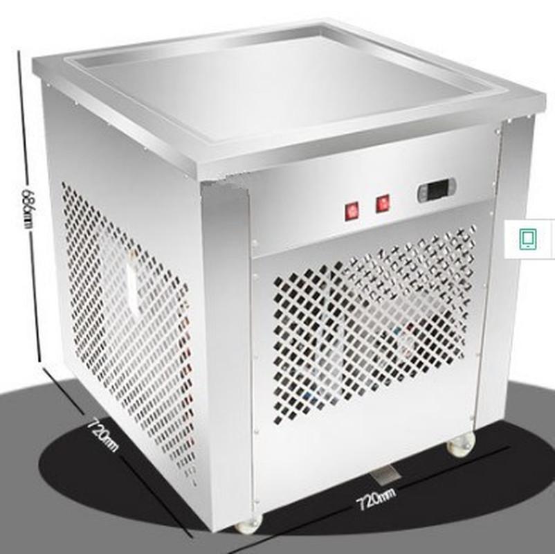 Ntelligent Temperature Control Large Single Pot Fry Yogurt Machine Commercial Fry Ice Cream Roll Machine Fry Ice Cream