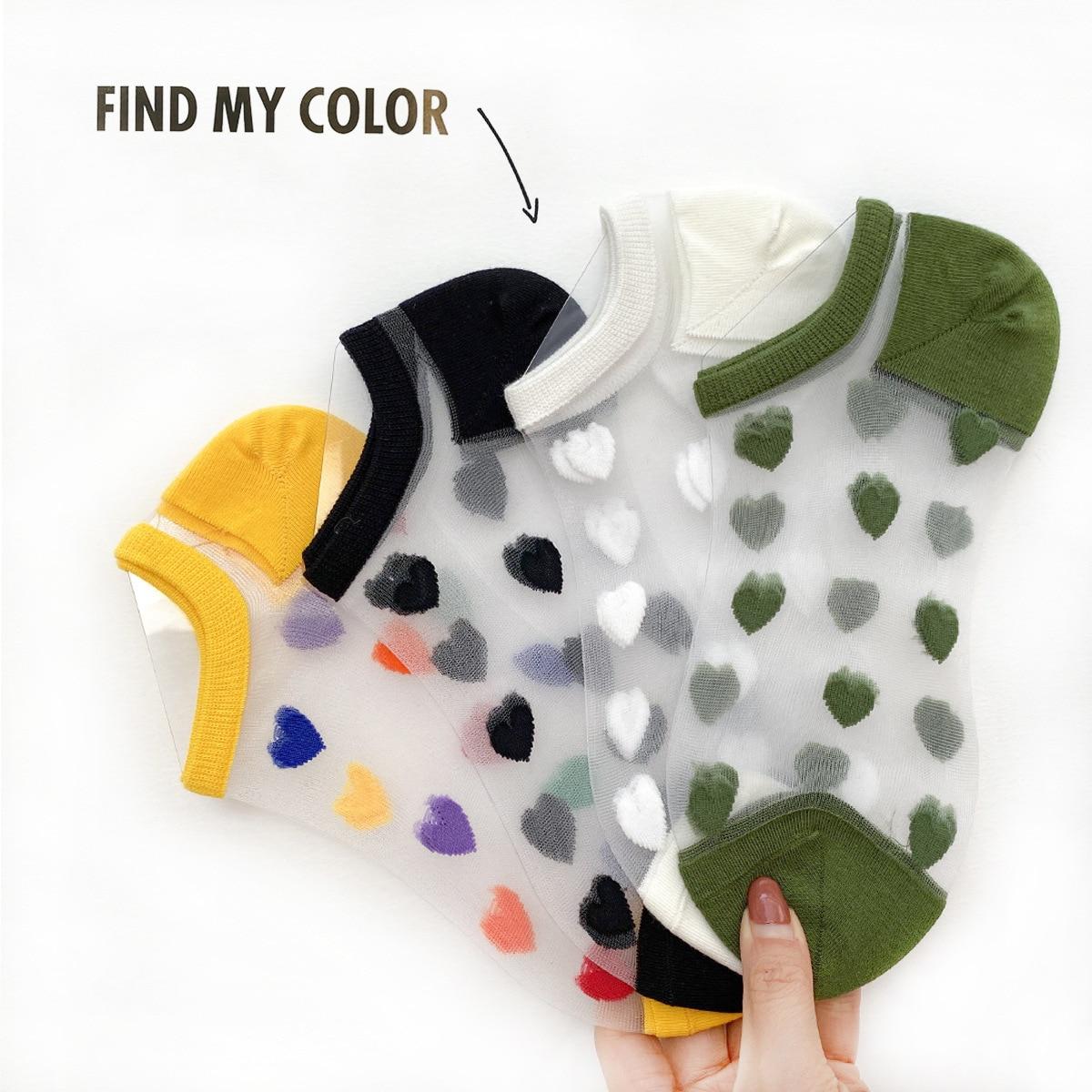 Fashion Women Sock Slippers 2020 New Fashion Color Summer Style Thin Women Cute Transparent Ankle Socks Women Invisable Socks