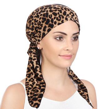 2020 New fashion Muslim hijab caps for women Leopard print arab wrap head scarf underscarf turbante mujer - discount item  32% OFF Muslim Fashion