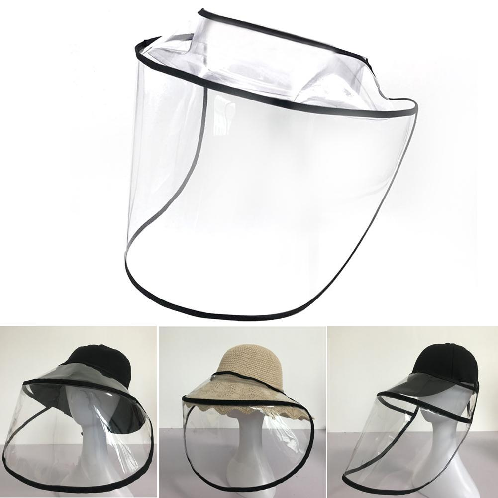 10PCS Transparent Protective Hat Brim Protection Cap Adults Child Removable Outdoor Anti Saliva Splash Face Mask Hot
