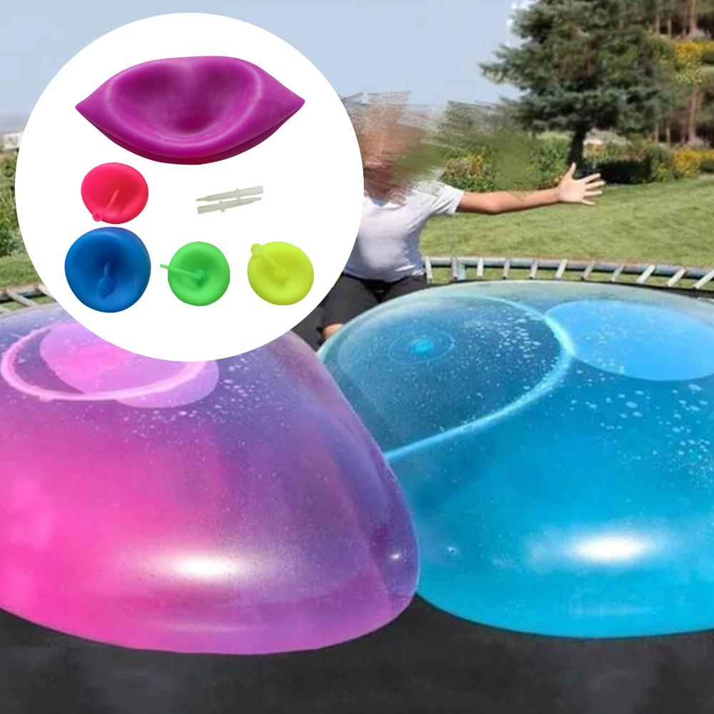 Inflatable Bubble Ball Toys Transparent Balloon For Children's Outdoor Activities Transparent Bubble TPR Blowing Balloon