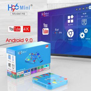 Image 3 - 1Set 4GB 32/128GB H96 Mini for Android 9.0 Smart TV Box H6 Quad Core 6K Wifi Multi Language HD Player Set Top Box