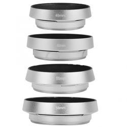49mm 52mm 55mm 58mm Universal Aluminium Alloy Portable Hollow Camera Bevel Lens Hood Shade Silver dslr len hood for Camera Lens
