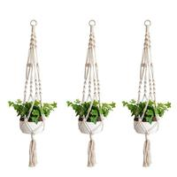 2/3Pcs Flowerpot Hanging Net Flowerpot Plant Hanging Baskets Hand Knitting String Bag Wall Mounted Decor for Home Garden Store|Hanging Baskets|   -