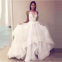 Кружевное свадебное платье aline элегантное белое пышное невесты