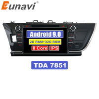 Eunavi 9'' Double 2 Din Android 9.0 Octa core Car DVD Radio Stereo player GPS Navigation for Toyota Corolla 2013 2014