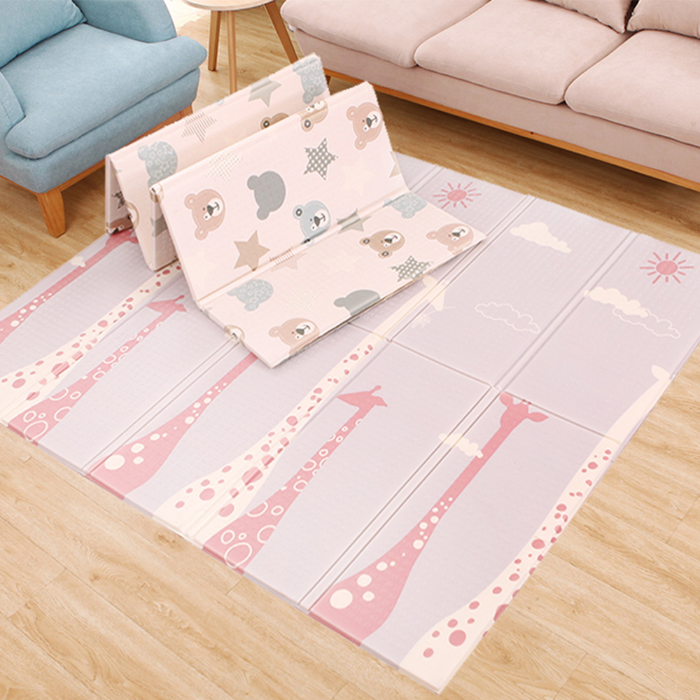 200*180*1cm Reversible Baby Play Mat Double-Sided Crawling Mat Foldable Waterproof Portable Soft Floor Toddlers Infants Carpet