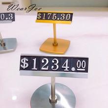 Kit de cubo de Metal grande de lujo para venta al por menor, etiqueta, electrodomésticos de ropa, muebles, soporte numérico de dígitos