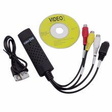Usb 2.0 fácil tampa de vídeo tv dvd vhs dvr captura adaptador mais fácil tampão usb dispositivo captura vídeo suporte win10