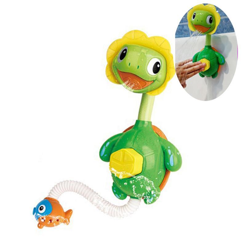 Turtle Shape Baby Bath Toys Spray Bathing Tub Fountain Toys Hand Shower Toy Bathtub Playing Toy For Kids