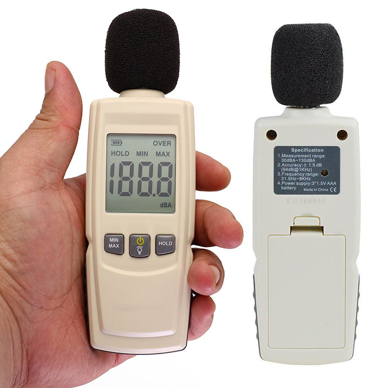 Monitoring-Tester 30-130db Sound-Level-Meter Noise-Volume-Measuring-Instrument Decibel