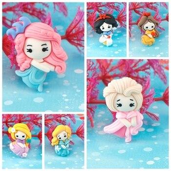 20Pcs Cartoon Series Little Girl Resin Decoration Crafts Flatback Cabochon Scrapbooking Fit Phone Embellishments DIY Accessories 1