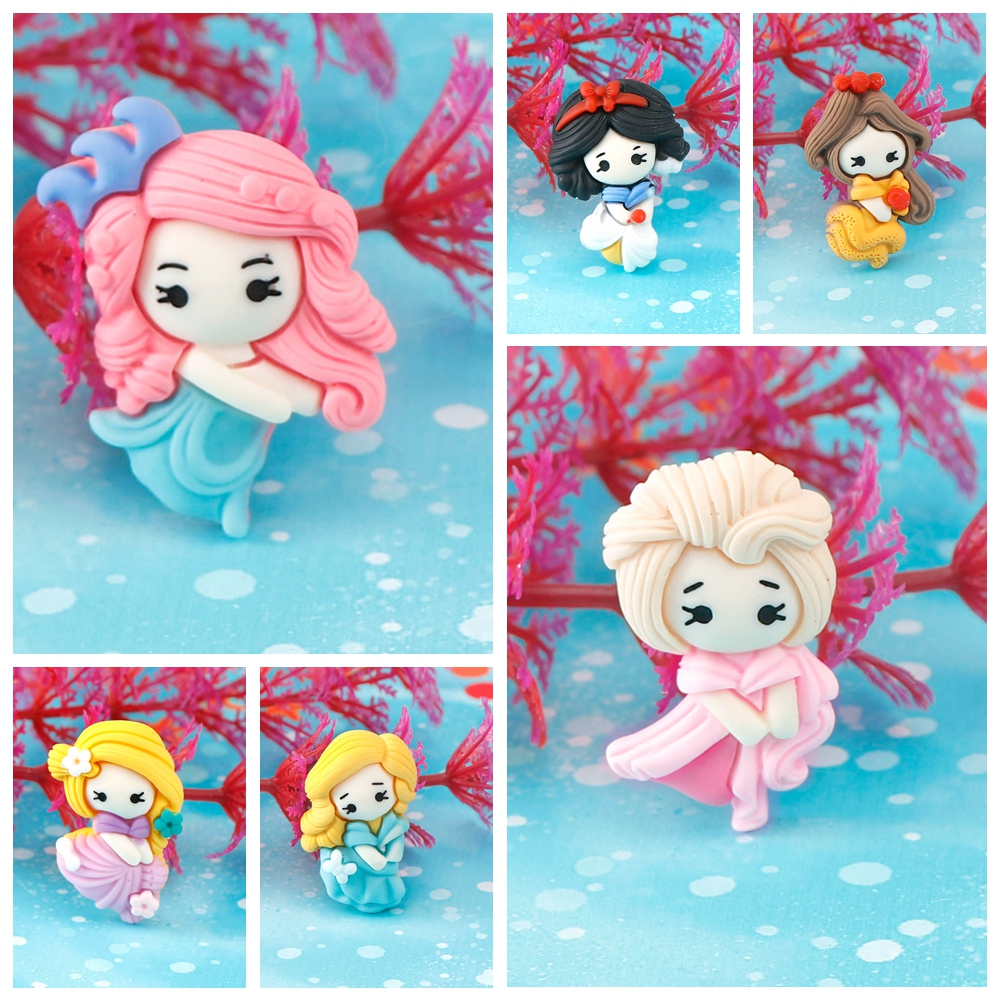 20Pcs Cartoon Series Little Girl Resin Decoration Crafts Flatback Cabochon Scrapbooking Fit Phone Embellishments DIY Accessories