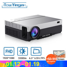 Touyinger T26L nativa de 1080p LED full HD proyector de vídeo 5500 Lumen FHD casa cine HDMI (Android 9,0 wifi AC3 opcional)(China)