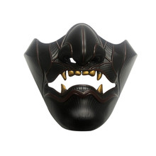 Halloween Face Mask, Half-Face Resin Mask Cosplay Tools for Halloween Party Costume Party