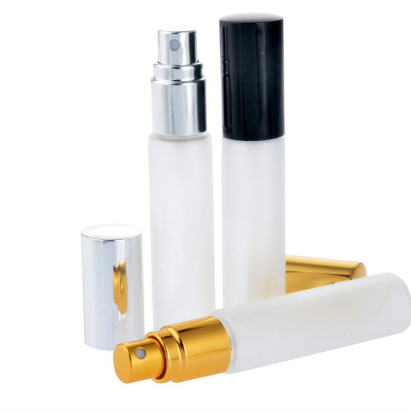 300 X 10ml Travel Frost Disinfectant Glass Sprayer Bottle 1/3 Oz Refillable Perfume Atomizer 10cc Clear Fragrance Parfum Vials