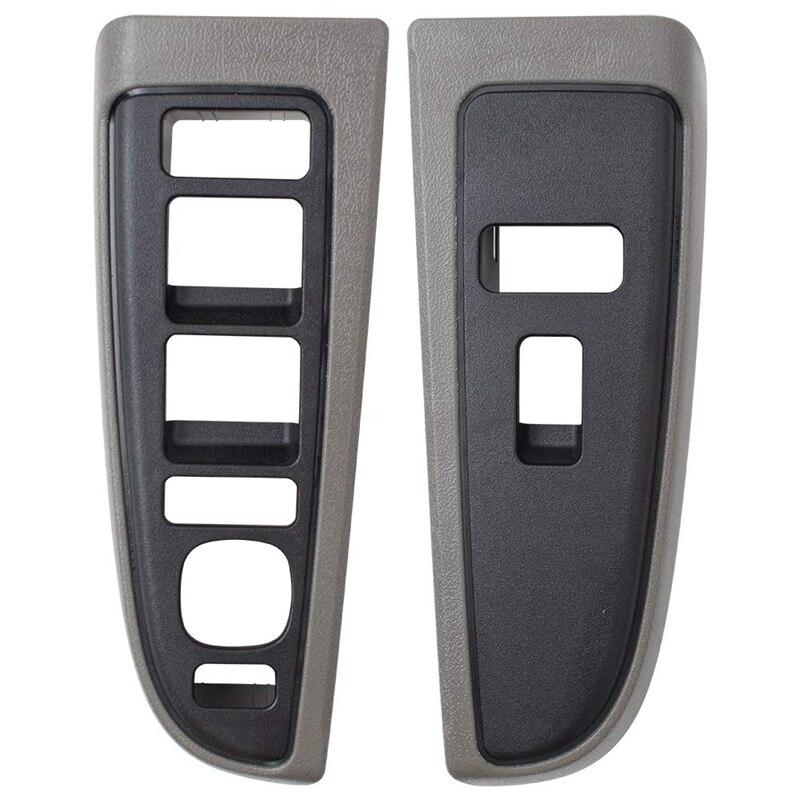 Power Window Switch Bezels For 03-06 Silverado Sierra Crew Cab 07 Classic Trim Replaces 89045128 89045120