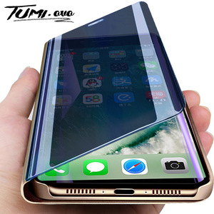 Оригинальный умный зеркальный флип-чехол для iPhone 6, 6 S, 7, 8 Plus, кожаный чехол-держатель для iPhone 11 Pro, XR, XS, Max, X, чехол для телефона s