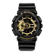 Casio Часы спортивные электронные кварцевые часы водонепроницаемые мужские часы черные золотые часы GA-110GB-1A