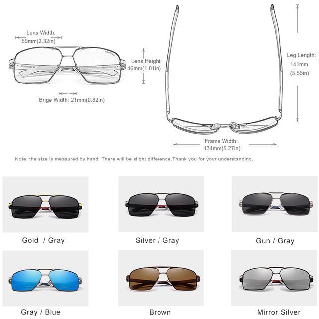 Gafas de sol polarizadas de espejo