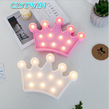 Led Night Light Decorative Lighting Lamp Home Kids Bedroom Wedding Christmas Birthday Party DecorationCreative Crown Shape