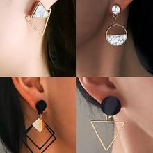 Korean Earrings Jewelry Geometric Round Dangle-Drop Wedding Women New-Fashion Heart