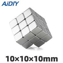 AI DIY 3/10/30 pcs 10mm x10mm x N35 Block neodymium magnet super strong power  Rectangular Rare Earth magnets 10 * *10mm