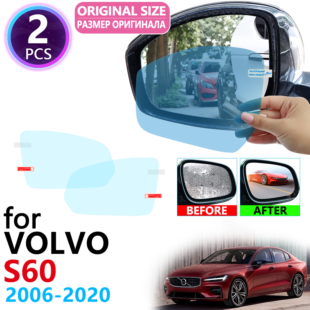 for <font><b>VOLVO</b></font> <font><b>S60</b></font> Rdesign 2006~2020 Full Cover Rearview Mirror Anti-Fog Rainproof Anti Fog Film Car Accessories 2007 2012 2018 2019 image